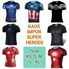 KAOS FITNESS SUPERHEROES IMPOR  Bahan = Polyester Karet  Size = XS, S, M, L, XL  pin BB = 7C98E504 Instagram = pohanfu tokopedia = radical fitness line id = sixpack_academy