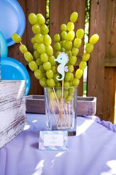 Mermaid Birthday Party - Project Nursery - Judy E. Mermaid Birthday Cakes, Little Mermaid Birthday, Mermaid Birthday Party Ideas, Birthday Ideas, Little Mermaid Parties, Birthday Party Snacks, 3rd Birthday Parties, Mermaid Party Decorations, Birthday Party Decorations
