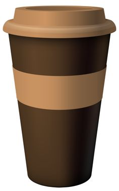 Brown Hot Coffee Cup PNG Clipart Image