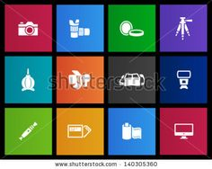 Photography icons in Metro style by puruan, via ShutterStock