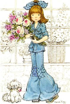 sarah kay - Page 3 Sarah Key, Holly Hobbie, Sarah Kay Imagenes, Sweet Memories, Childhood Memories, Mary May, Illustrations Vintage, Vintage Drawing, Sweet Pic
