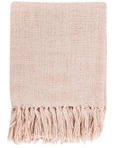 Belize Fringe Pale Pink Throw - how to decorate with blush accents