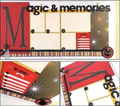 Magical Memories - Top 5 Disney Layout This 2 page layout set is perfect for photos of your Disneyland or Disney World vacation. DaringDezinz Etsy shop by Tamara Jensen