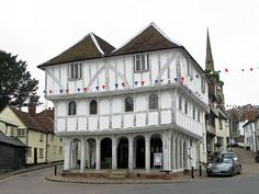 : : east anglia : : The Guildhall, Thaxted, Essex Timber Frame Homes, Cabin Interiors, Cozy Cabin, Built Environment, Great Britain, The Good Place, Cool Designs, England, Log Cabins