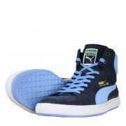 Puma First Round Mens Hi Top Trainers in Navy Boy Blue - official sponsors of the Jamaican 2012 Olympic team.  Visit www.hypedirect.com