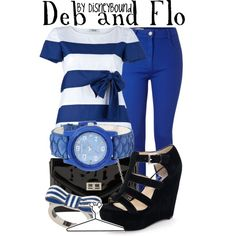 Deb and Flo, created by lalakay on Polyvore disney