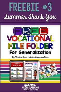 Free File Folder Activity for Color Matching Shoe Store for all ages. Great for work boxes or work tasks