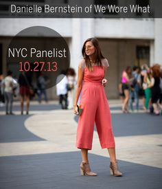 Danielle Bernstein of We Wore What will be speaking on our blogger panel in NYC on 10.27!
