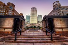 Towers at Canary Wharf, London, England