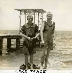 Newly digitized photos show what Lake Tahoe looked like in the early Photo 2017, Classic Photography, Lake Tahoe, Secretary, Caption, Division, December, Swimsuits, California