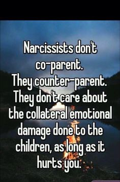 You cannot call yourself a loving parent if you cannot control your emotions and choose to tell your children bad things about their other parent.