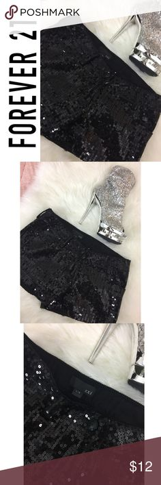NWOT Black Sequin Forever 21 Shorts Super Cute Forever 21 Shorts NWOT   Size: Large   Waist : 30 inches   ................. Fast Shipping Remember to Bundle and save  Top Rated Seller Buy with Confidence Forever 21 Shorts