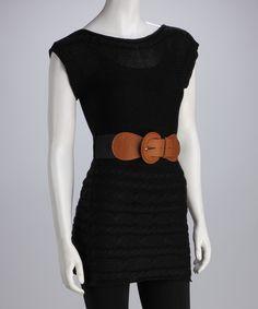 Black Belted Sweater Dress