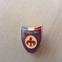 spilla FIORENTINA tricolore Firenze calcio football spilletta old pin