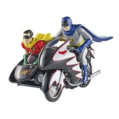 Hot Wheels Elite Batman Classic TV Series Batcycle with Figures (1:12 Scale): Hot Wheels Elite Collector Die-Cast vehicle with authentic details and decorations....