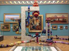Joana Vasconcelos' Cottonopolis arrives in our historic galleries. Portuguese tiles meet Pillington tiles! At MAG