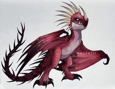 25 + › Deadly Nadder (Drachenzähmen) By madpatti / Dragon Vipère (Dragons l … Dragons Le Film, Httyd Dragons, Cool Dragons, Manga Dragon, Dragon 2, How To Train Dragon, How To Train Your, Night Fury Dragon, Dragon Sketch