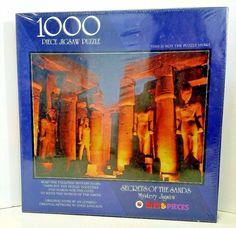 Secrets of the Sand Mystery Story and Jigsaw puzzle 1000 pieces Bits and Pieces #BitsAndPieces