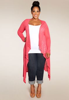 Plus Size Tops | Jamie Knit Cardigan | Swakdesigns.com