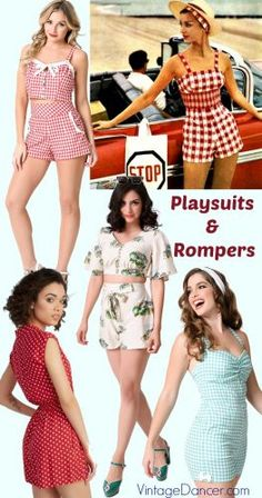 Vintage playsuits and rompers bring back vintage retro style to summer