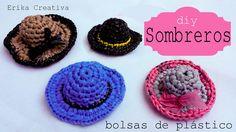 Sombreros hechos con bolsas de plástico | Aprender manualidades es facilisimo.com