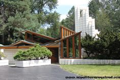 """Alden B. Dow House, Michigan - Dow was the son of the Dow Chemicals magnate, and apprenticed under Frank Lloyd Wright """"for a few months""""..."""