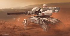A quick tank speedpainting. Fighting against ESA or martians I guess, I'm not…