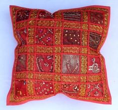 indian Handmade Patchwork cotton Cushion Cover Home Decor Pillow Cases KH100 #Handmade #Ethnic