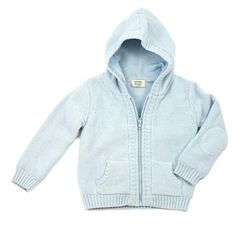 100% organic cotton knitted Hoodie Sweater for baby, GOTS certified. Fully lined hooded sweater with 2 front pockets, front full zipper. Warm, cozy, comfy, chemical free & non-toxic formulation, perfectly balanced, buttery soft & luxurious clothing. Available in 4 classic and gender neutral