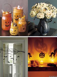 Ideias de decoração simples, prática e divertida para o dia das bruxas e Halloween.