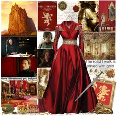 """House Lannister"" by cyanideteaparty ❤ liked on Polyvore"