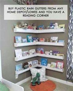 Cool reading corner for nursery