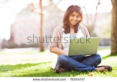 A shot of an asian student using laptop on campus by arek_malang, via ShutterStock
