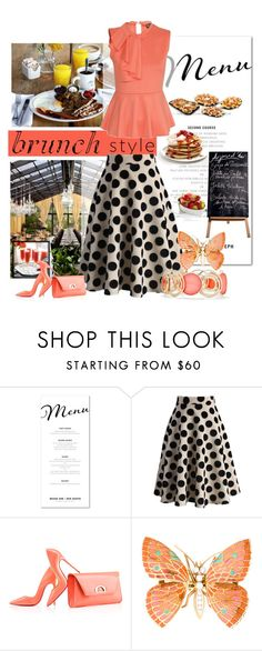 """""""Let's do brunch"""" by zeepanda ❤ liked on Polyvore featuring Chicwish, Bellini, Christian Louboutin, New Directions, Reception and brunch"""