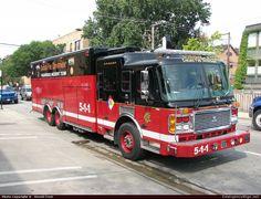 American LaFranceEagleHaz MatChicago Fire DepartmentEmergency Apparatus Fire Truck Photo