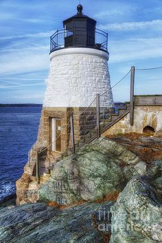 The Cutest Lighthouse in the World - Joan Carroll. To view or purchase prints, canvases, cards or phone cases visit joan-carroll.artistwebsites.com THANKS!