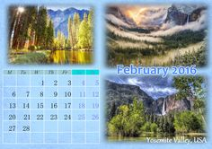 Spend this February in Yosemite Valley, USA. Make your own creative calendar designs with http://photo-calendar-software.com/ and travel to new places every month! #WallCalendar #Calendar2016