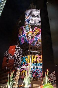 Potsdamer Platz @ Berlin FESTIVAL OF LIGHTS 2013. Moderne Kunst neu entdecken. Rediscovering Modern Art (c) Festival of Lights / Frank Herrmann #Berlin #FestivalofLights #PotsdamerPlatz #ModernArt #ModerneKunst