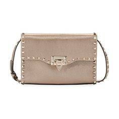 f419fab4e4 Rockstud Medium Crinkled Shoulder Bag by Valentino. ONLYATNM Only Here.  Only Ours. Exclusively