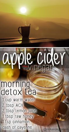 Apple Cider Vinegar Detox Tea – for those mornings you need a natural boost of energy! Apple Cider Vinegar Detox Tea – for those mornings you need a natural boost of e…! Apple Cider Vinegar Morning, Organic Apple Cider Vinegar, Apple Vinegar, Vinegar Diet, Apple Cider Vinegar For Weight Loss, Vinegar Detox Drink, Recipe Apple Cider Vinegar Drink, Briggs Apple Cider Vinegar, Apple Coder Vinegar Drink