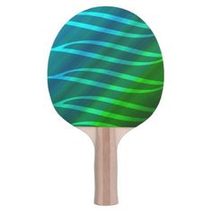 Blues and Green Design Ping Pong Paddle - fun gifts funny diy customize personal
