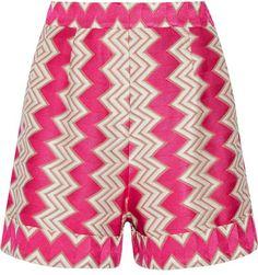 Missoni - Crochet-knit Shorts - Fuchsia