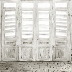10x10FT Vintage Grigio Bianco Porte In Legno Persiane Personalizzata Photo…