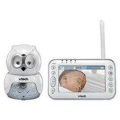 VTech Safe & Sound® Owl Digital Video Baby Monitor with Pan & Tilt Camera VM344
