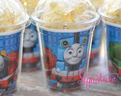 Thomas the Train  Birthday Party Cups-Popcorn Box-Set of 8