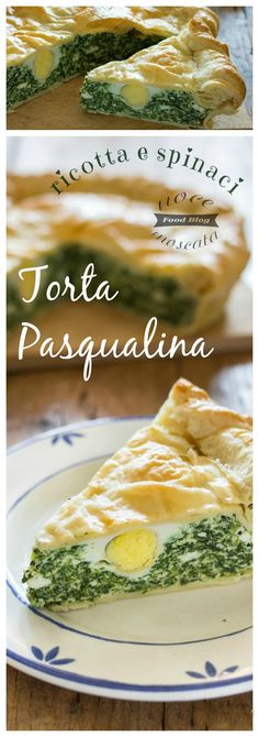 Torta Pasqualina con ricotta e spinaci #pasqua #food #cucina #madeinitaly #gialloblogs