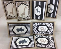 Stampin' Up! Kids Cards, Baby Cards, Girl Cave, Animal Cards, Masculine Cards, Stampin Up Cards, Some Fun, Note Cards, Projects To Try