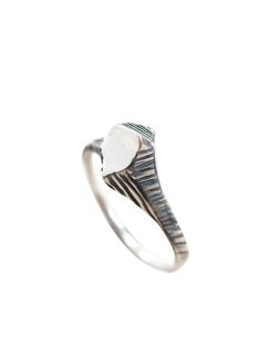 Meteorite Nugget Ring - Oxidized sterling silver - Sharon Z Jewelry