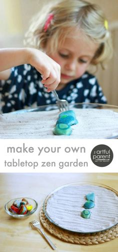 This simple DIY zen garden has been a big hit in our family, combining the sensory experience of a sand tray with the meditative beauty of a zen garden.