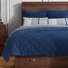 Finley Solid Quilt + Sham #pbteen I have these shams and they are crazy soft